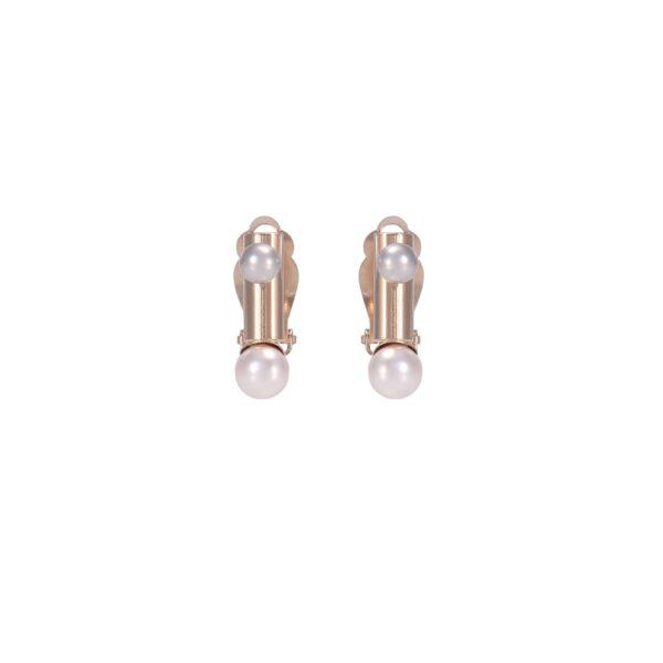 Boucles d'oreilles clips FUNAMBULE FU14-nacre