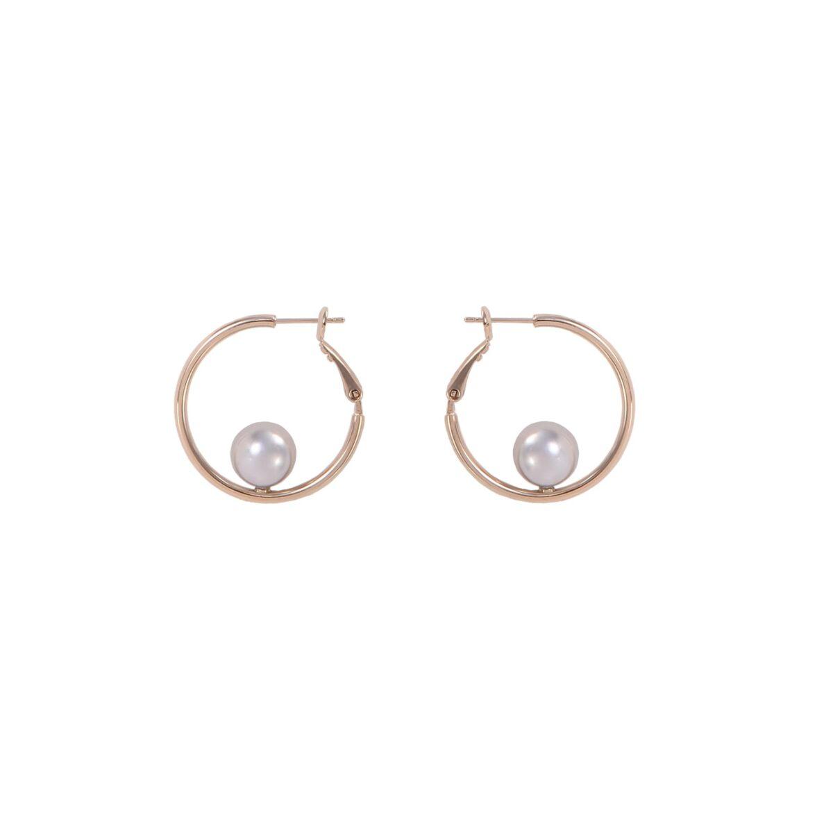 Boucles d'oreilles créoles FUNAMBULE FU10-gris