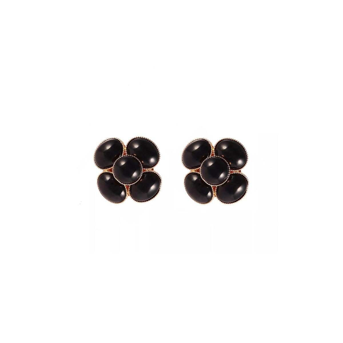 Boucles d'oreilles clips MISS CAMÉLIA MC10 noir