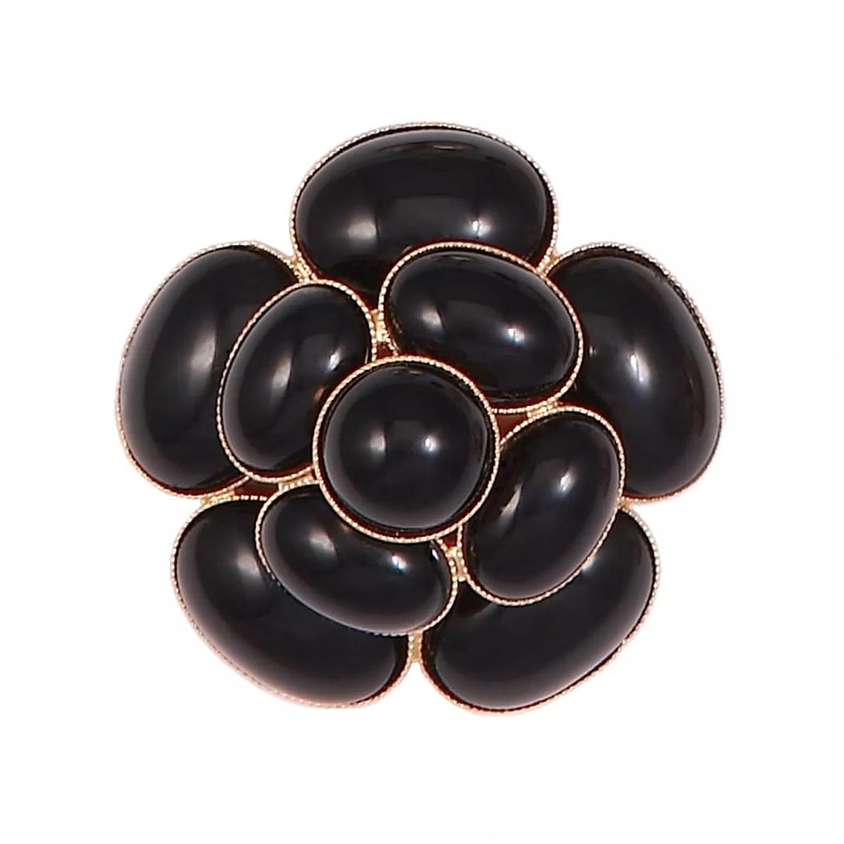 Broche MISS CAMÉLIA MC33 noir